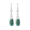 Earrings Sterling Silver Drops Turquoise