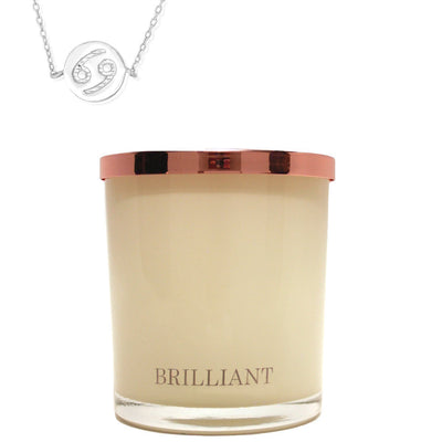 Zodiac Charm and Necklace Candle - Cancer