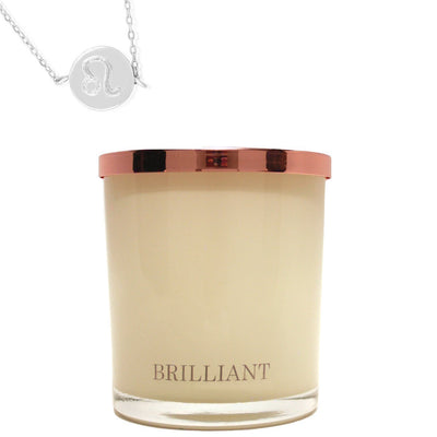 Zodiac Charm and Necklace Candle - Leo
