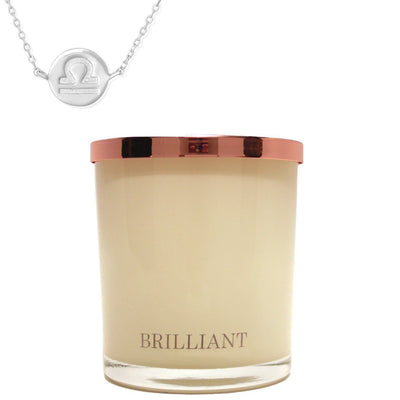 Zodiac Charm and Necklace Candle - Libra