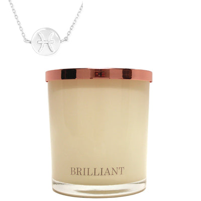 Zodiac Charm and Necklace Candle - Pisces