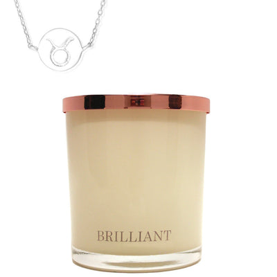 Zodiac Charm and Necklace Candle - Taurus