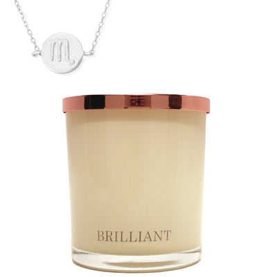 Zodiac Charm and Necklace Candle - Scorpio