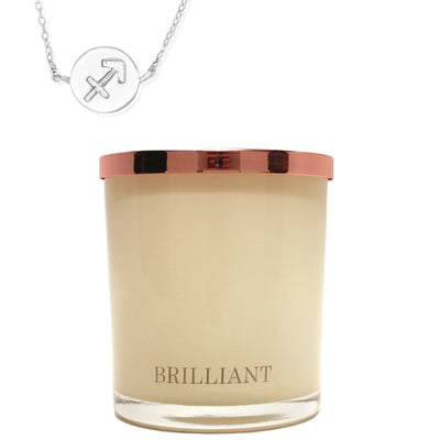 Zodiac Charm and Necklace Candle - Sagittarius