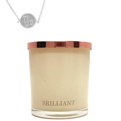 Zodiac Charm and Necklace Candle - Capricorn