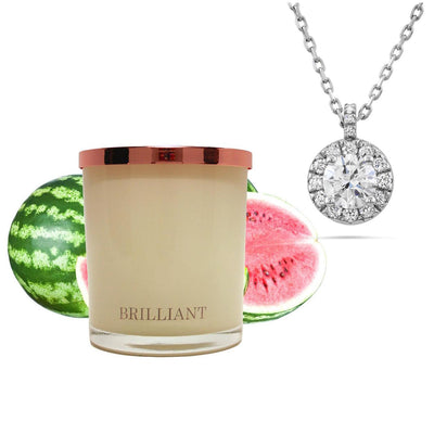 Pendant & Necklace Watermelon -  Candle