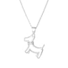 Pendant Dog Necklace In Sterling Silver