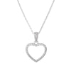 Pendant Heart Necklace With Cubic Zirconia In Sterling Silver