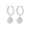 Earrings Sterling Silver Clear Cluster Cubic Zirconia