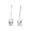 Earrings Sterling Silver With Clear Cubic Zirconia
