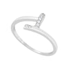 Ring With Clear Cubic Zirconia In Sterling Silver