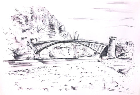 'Craigellachie Bridge, Speyside in Ink'