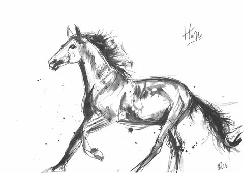 Horse Art, Character Horse, Horse Painting, Horse Ink, Horse portrait, horse ink, horse watercolour, buy original horse, buy original horse art, best horse art, best horse to buy, best horse picture, horsey picture, running horse, running horse painting, galloping horse, cantering horse, horse at canter, ears up horse pic, watching horse painting, horse illustration, horse description, horse wall art, horse lover art, horse products, horse gifts, buy horse art, horse artist, animal art