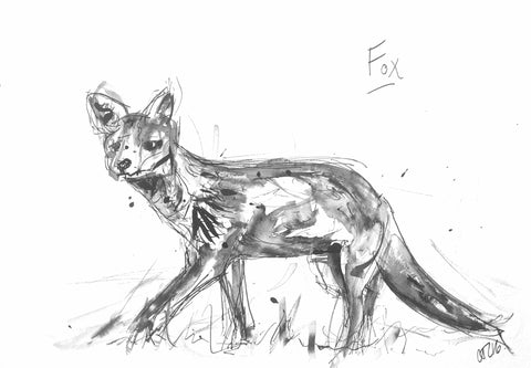 Fox art, wild art by artist Chloë Tinsley