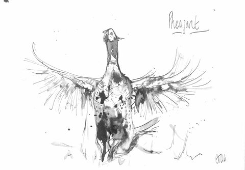 Pheasant, Pheasant on Parade, Pheasant Art, Pheasant Drawing, Pheasant Print, Buy Pheasant Art, Pheasant Lover, Pheasant Bird, British Pheasant, Best Pheasant Art, Pheasant Ink, Pheasant Painting, Pheasant Display, Chloe Art, Wild Art, Buy Pheasant, hunting shooting fishing,, animal art, wild art, funny pheasant