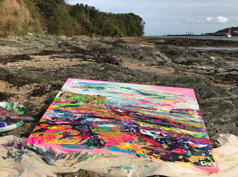 Inspiring Art, Cornish Art, Chloe Tinsley Art, Chloe Art, Landscape Art