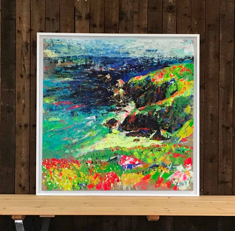 Cornish Commission, British Artist, Female Artist, British Female Artist, Emerging British Talent, Artist Chloë Tinsley, Inspiring Art, Cornish Art, Plein Air, Landscape Painting, Lizard Art, Colourful Art, Limited Edition Print