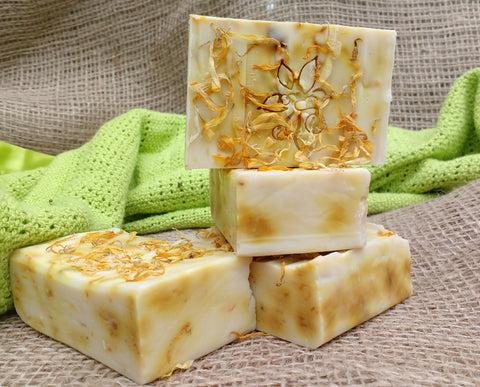 Natural goat milk soap with calendula: The Soother