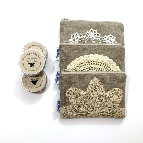 Bridesmaid Lotion Bar & Zipper Pouch Gift Set