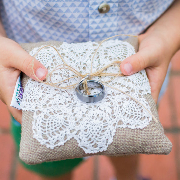 Ring Bearer Pillow with Vintage Lace