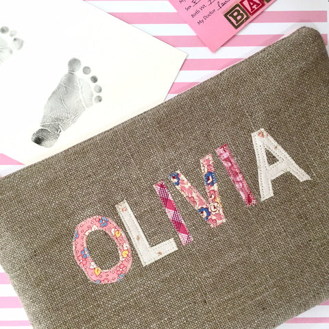 Personalized Diaper Clutch