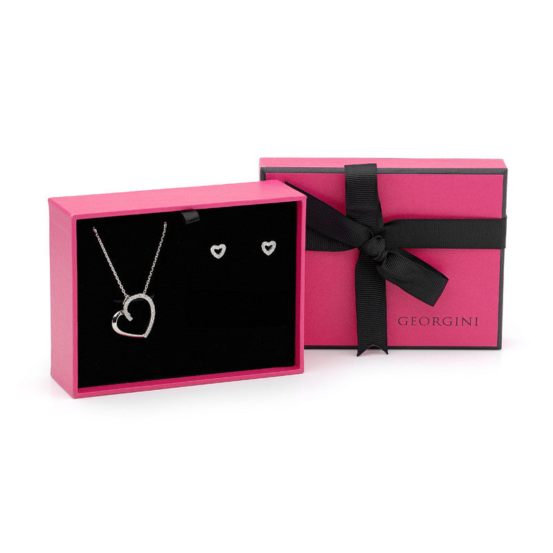 GEORGINI HEART GIFT SET NECKLACE AND EARRINGS