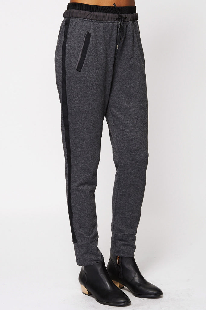 Black Lined Detail Track Pants-Black-XLarge - UK (14-16)