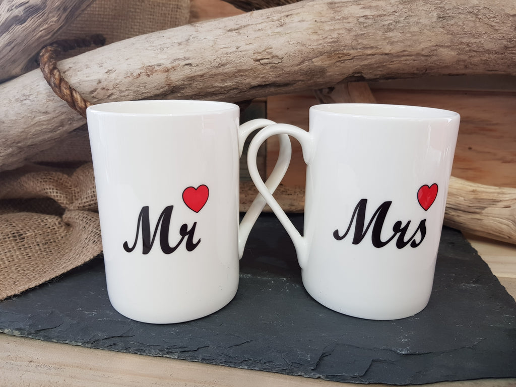 Mr & Mrs Fine Bone China mug set