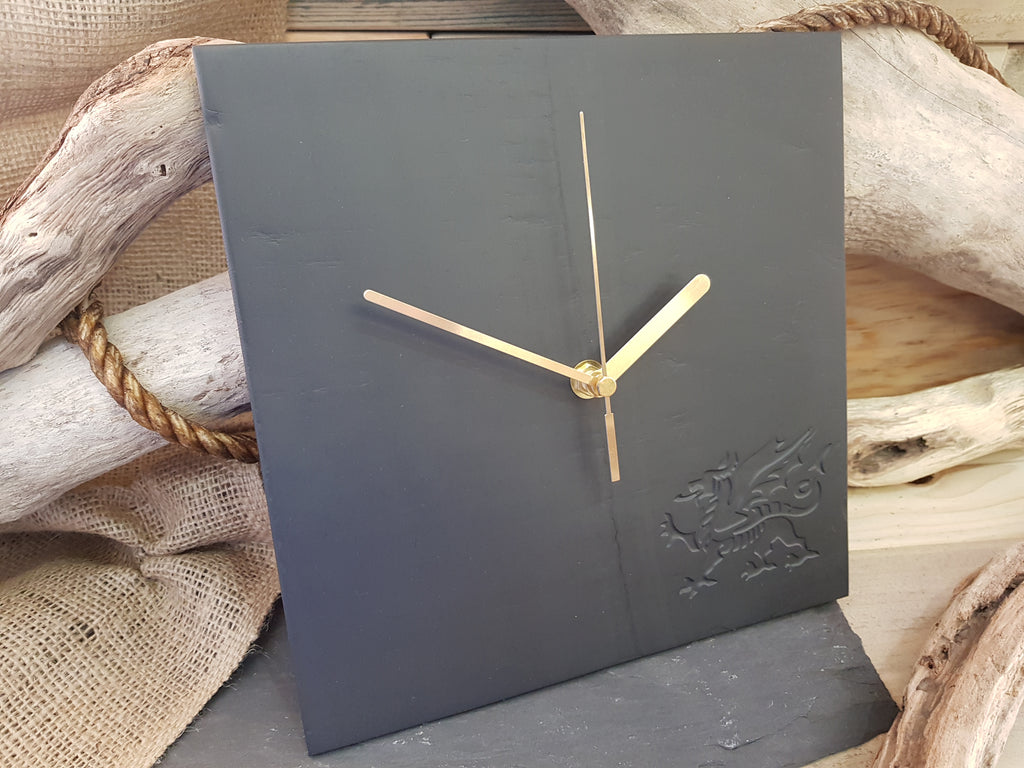 Polished Slate Clock