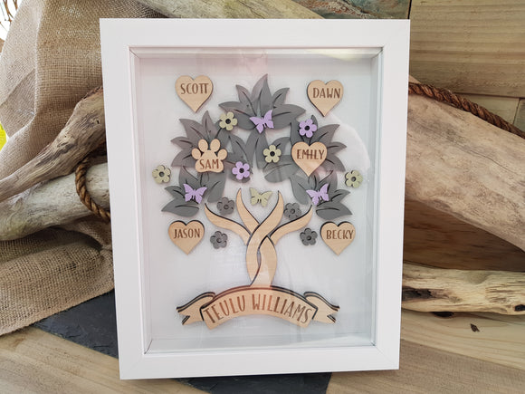 Family Tree Box Frame (Personalised)