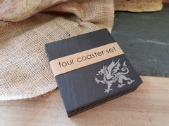 Welsh Dragon Coaster Set