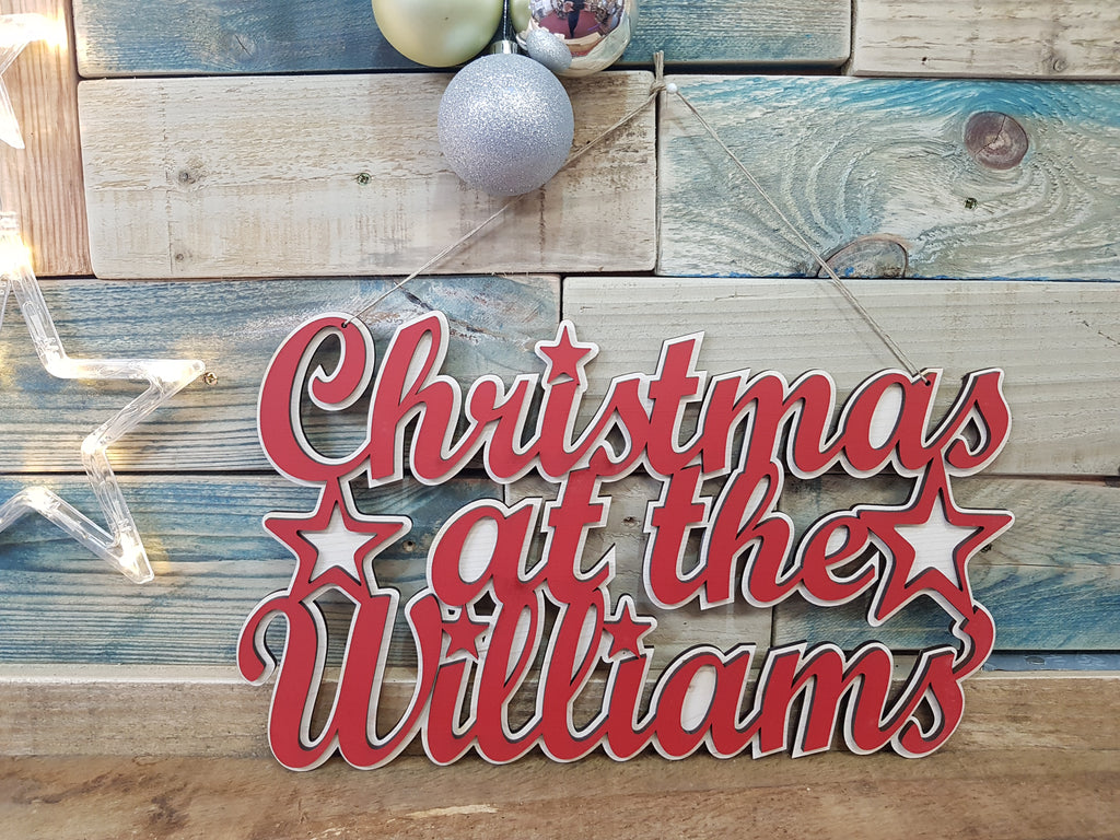 Christmas At The Williams Hanging Sign