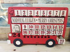London Bus Wooden Advent Calendar