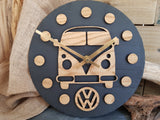 VW Camper Slate & Wood Clock