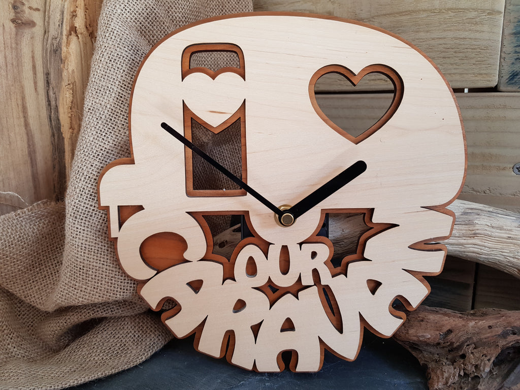 'Our Caravan' Wooden Clock