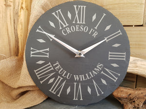 Teulu Williams Slate Clock