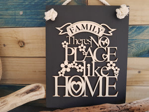 Family Slate & Wood Plaque