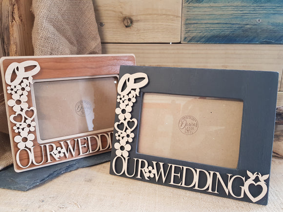 Our Wedding Fretwork Photo Frame
