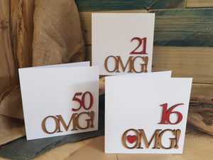 OMG! design Wooden Card