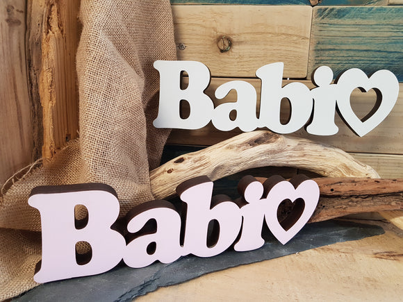Babi Wood Block Word
