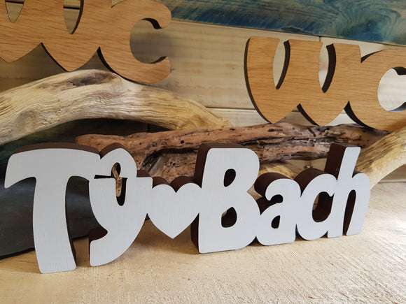 Ty Bach Wood Block Word