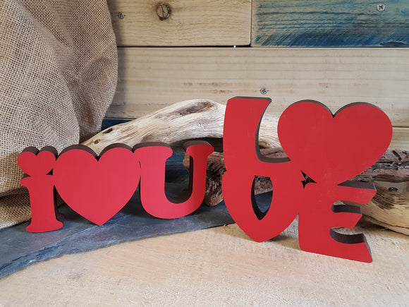 Love Wood Block Word