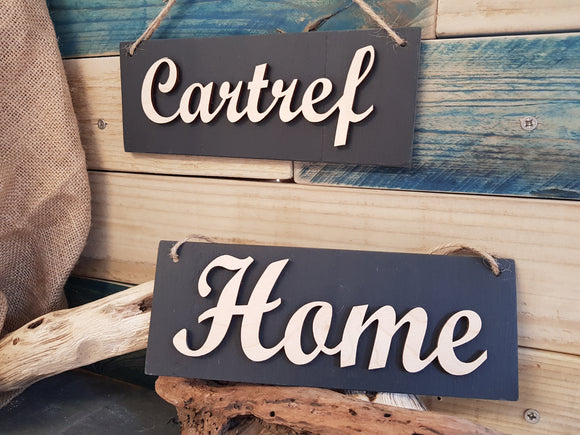Cartref Home Slate Plaque