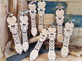 Christening Bedydd Wood Lovespoon