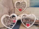 Personalised Anniversary Fretwork Wood Heart