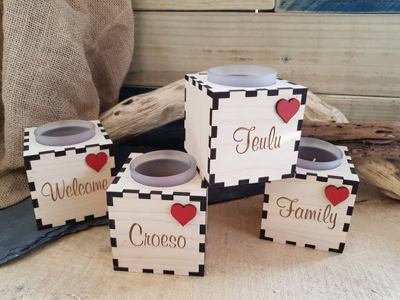 Personalised Wood Tealight