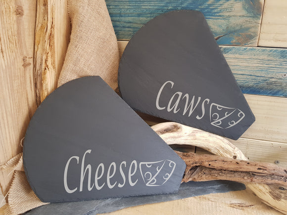 Slate Caws Cheese Board