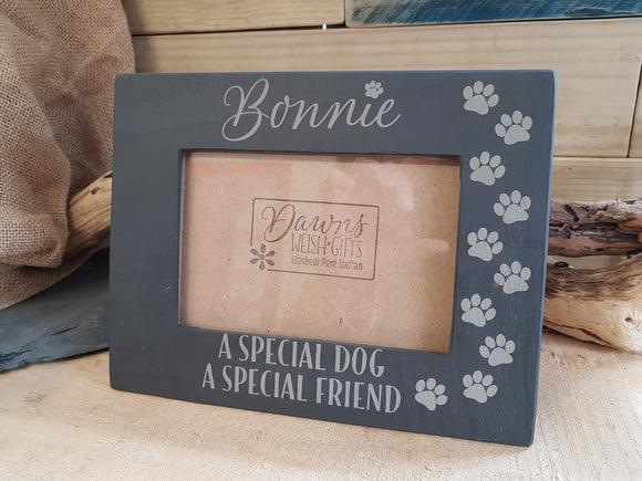 Special Dog Slate Photo Frame