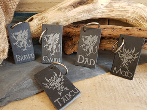 Personalised Slate Key Ring