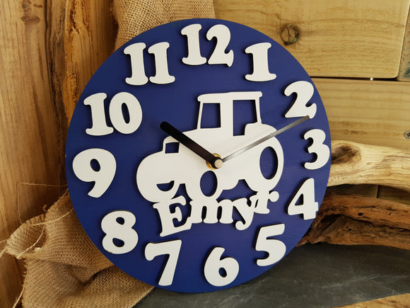 Personalised Boys Clock